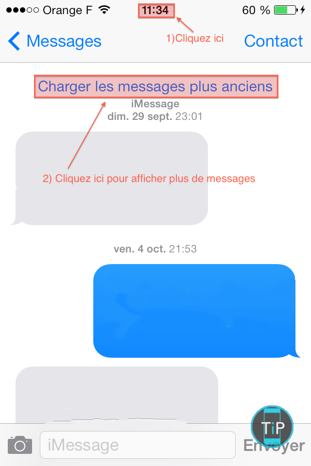 afficher images imessage ios7